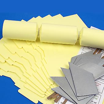 8 Pale Pastel Yellow Make & Fill Your Own DIY Reciclable Christmas Cracker Kit 8 Pale Pastel Yellow Make & Fill Your Own DIY Reciclable Christmas Cracker Kit 8 Pale Pastel Yellow Make & Fill Your Own DIY Reciclable Christmas Cracker Kit 8 Pale Pastel Yellow Make