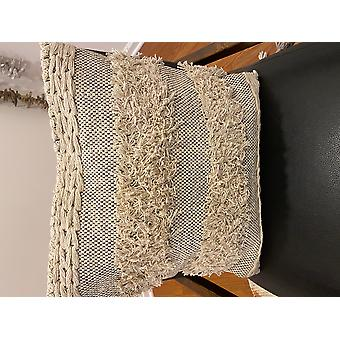 Spura Home Confortable Board Style Beige Moroccan Pillows 18x18