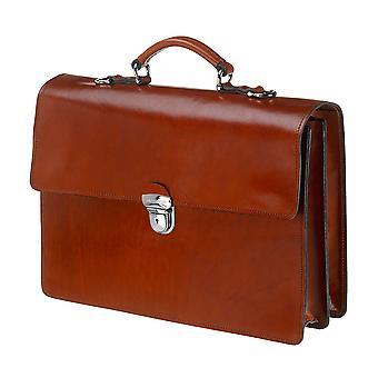 Leather Laptop Bag - The Jones - Chestnut