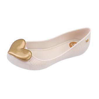 Womens Zaxy Ballet Pumps Pop Beauty Flat -  Ivory Heart