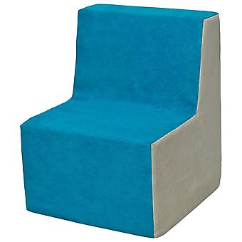 Kinderstoel meubel schuim blauw & beige