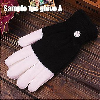 1pair Kids Adult Led Flashing Magic Glove Glow In The Dark Toys - Light Up