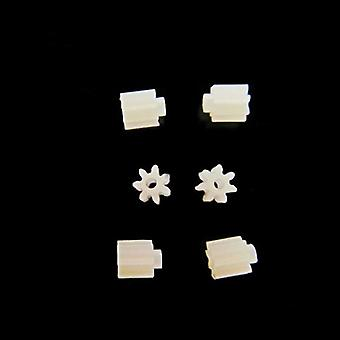 6pcs/lot 7 Teeth 0.75mm Shaft Hole Gears- Small Remote Control Helicopter,
