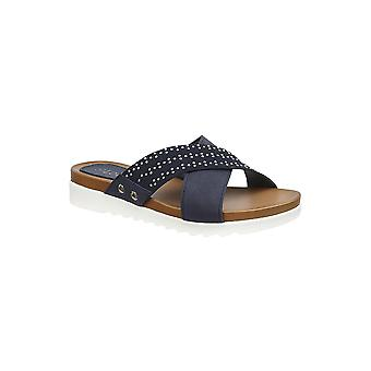 Lotus Sharon Mule Sandalen in Navy