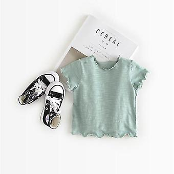 Newborn Baby T-shirts Solid Short Sleeves Spring Summer Korean Style Unisex Girls Boy Tops Infant