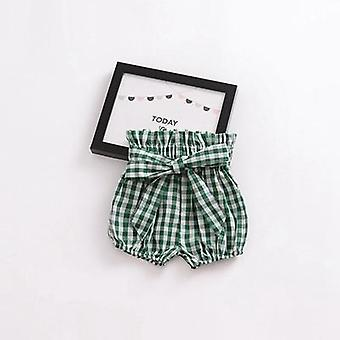 Summer Baby Girls Shorts Flower Patterns Lantern Pants Children's Trousers Cotton Big Pp Shorts