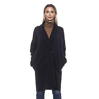 Alpha Studio Women's Blue Coat