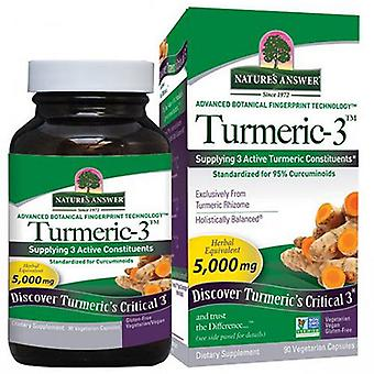 Nature's Answer Turmeric-3, 90 Veg Caps