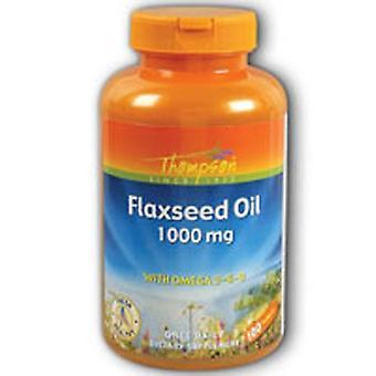 Thompson Flax Oil, 1000 MG, 100 Sftgls