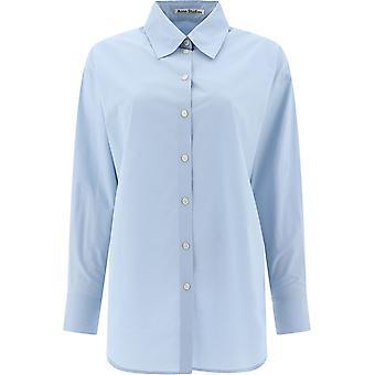 Acne Studios Ac0219lightblue Women's Light Blue Cotton Shirt