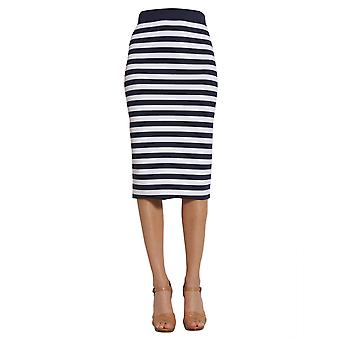 Michael By Michael Kors Ms87et85zv456 Women's White/blue Viscose Skirt