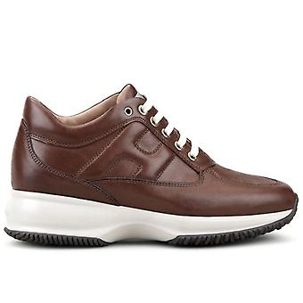 Femme Hogan Interactive Leather Sneaker