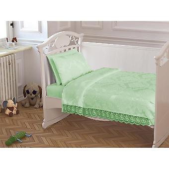 French Laced Baby Pique Pack Water Green