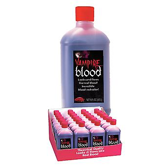 Botella de sangre vampiro falso halloween elegante vestido de maquillaje teatral 0.47litre un tamaño