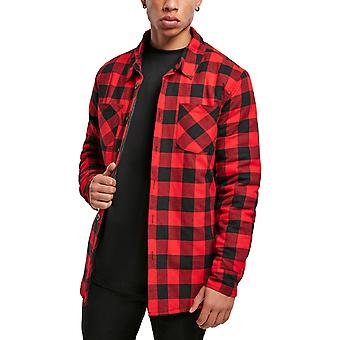 Urban Classics - Check Flannel Shirt Red, Lined