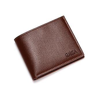 Uomo pelle Masculina Billetera Carta d'identità di credito Porta portafoglio Billfold Borsa
