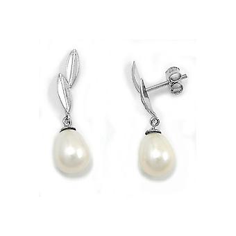 Earrings Pearl 9k White Gold