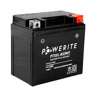 Powerite PTX5L-BS Sealed Motorcycle Battery 12V 4 Ah