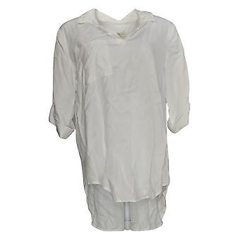 Side Stitch Women's Top Tencera Pullover Tunic White A299018