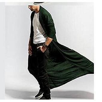 Gothic Menăs Long Coat, primăvară și toamnă, jachetă slim subțire casual