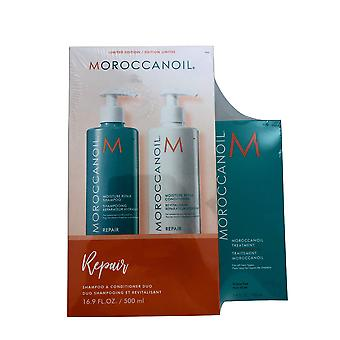 Moroccanoil Moisture Shampoo Conditioner 16.9 OZ, Original Treatment 3.4 OZ Set