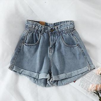 Zomer Hoge Taille Denim Shorts Casual Loose Fashion Plus Maat Elastisch Kort