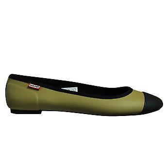 Hunter alkuperäinen baletti pumput flat slip naisten kengät kevyt oliivi YFF1000RMF