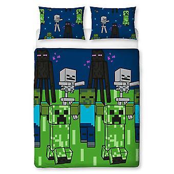 Minecraft Creeps Doble Duvet Cubierta Set - Rotary Design