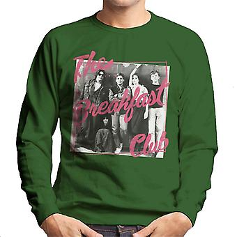 The Breakfast Club Pink Text Characters At Lockers Men's Sweatshirt