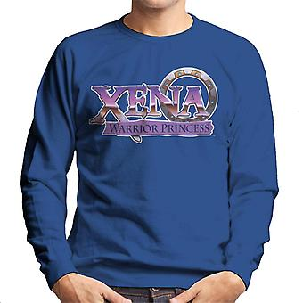 Xena Warrior Princess Purple Logo Men's Sweatshirt