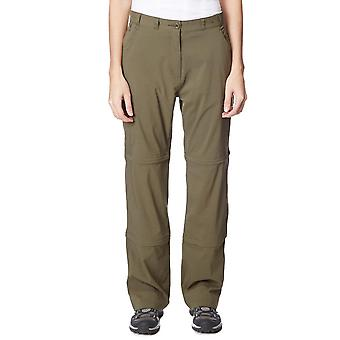 New Peter Storm Women's Stretch Double Zip Off Trousers Khaki