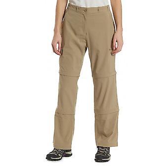 New Peter Storm Women's Stretch Double Zip Off Trousers Short Beige