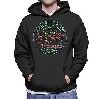 Coca Cola Neon The Official Soft Drink Of Summer Men's Hooded Sweatshirt