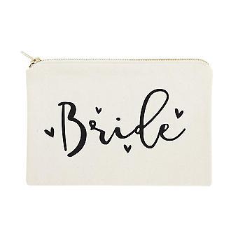 Braut-Baumwolle Canvas Kosmetiktasche