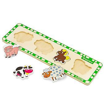"""Alatoys Wooden  Puzzles """"Farm"""""""