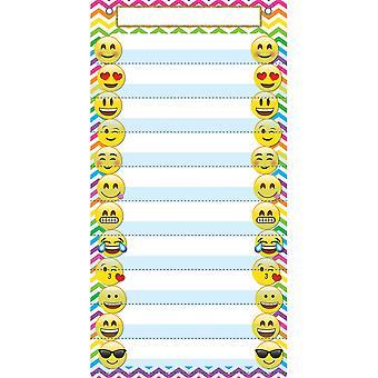 "Smart Poly Pocket Chart, 13"" X 25"", 10 Taschen & 2 Grommets, Emoji"