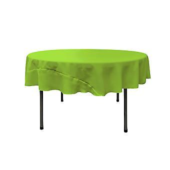 La Leinen Polyester Poplin Tischdecke 72-Zoll rund, Lime