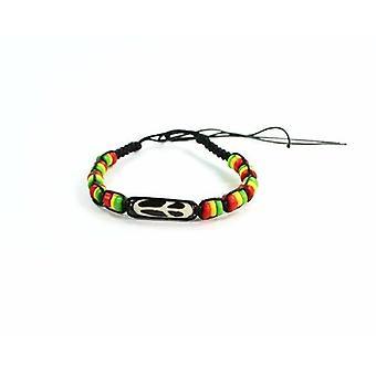 Peace & Rasta Vibes Friendship Macrame Bracelet