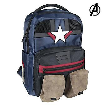 Casual backpack the avengers dark blue