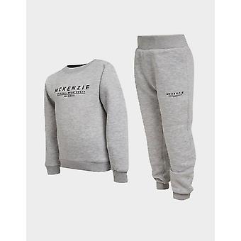 New McKenzie Kids' Mini Essential Large Logo Crew Tracksuit from JD Outlet Grey