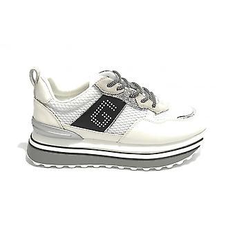 Женская обувь Золото и золото Кроссовки Беговая платформа Ecopelle Белый Ds21gg08
