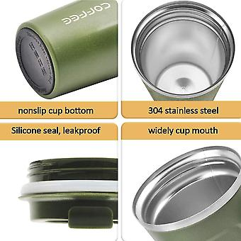 Coffee Cup, DZK Vacuum Reusable Leakproof Double Wall Coffee Cup, Insulation Stainless Steel