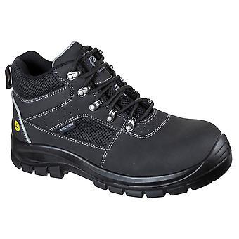 Skechers unisex trophus λετική ασφάλεια μπότα μαύρο 32622