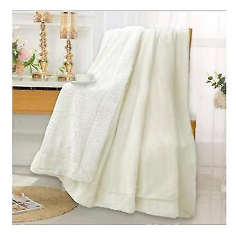 Lamb Wool Blanket Quilt Double Thick Flannel Blanket