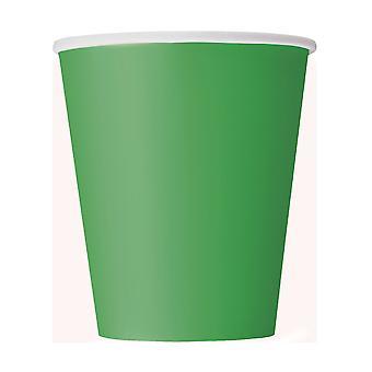 8 Groene kartonnen bekers 266 ml