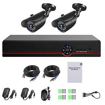 4-kanavainen digitaalinen videonauhuri + 2kpl 1080P-kamerat