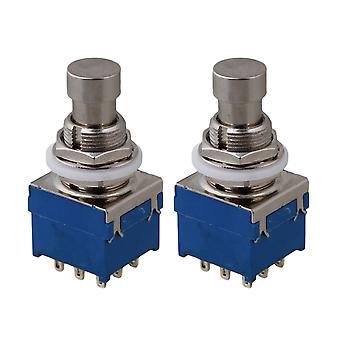 2 x 3PDT 9-pin efekty Pedał Pedał Przełącznik nożny W / Lockwasher Nylon Przełączniki spryskiwacza