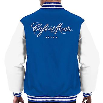 Cafe del Mar Classic White Logo Men's Varsity Jacket