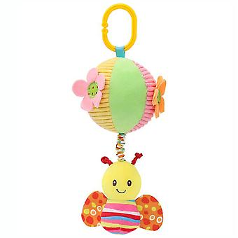 Bee Rattling Doll Cute Baby Hanging Toys With Music Box Bb Device For Children Soft Plush Rattle Toys
