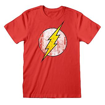 The Flash Womens/Ladies Distressed Logo Boyfriend T-Shirt